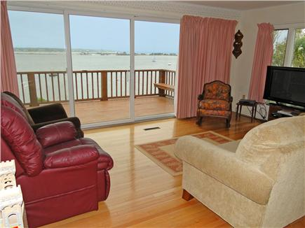 Oak Bluffs, Lagoon Pond Martha's Vineyard vacation rental - Spacious living room with hardwood floors, flat screen TV