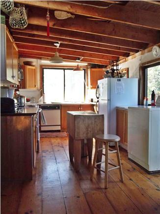 Chappaquiddick - Wasque Martha's Vineyard vacation rental - Well-equipped kitchen has vintage butcher block.
