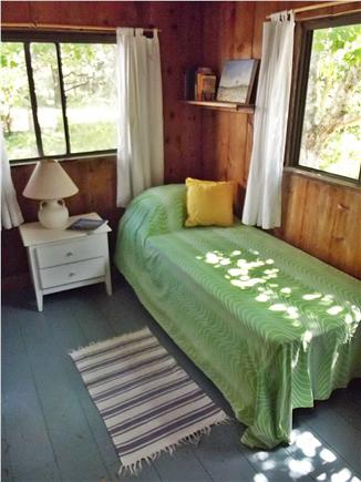 Chappaquiddick - Wasque Martha's Vineyard vacation rental - One of 2 bedrooms downstairs. Trundle bed and two twins.