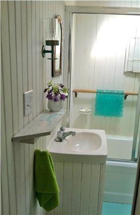 Chappaquiddick - Wasque Martha's Vineyard vacation rental - Full bathroom downstairs.
