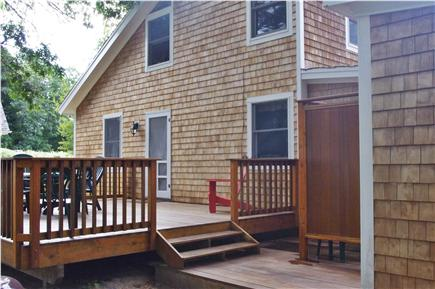 Edgartown Martha's Vineyard vacation rental - Rear mahogany & cedar deck with generously sized outdoor shower