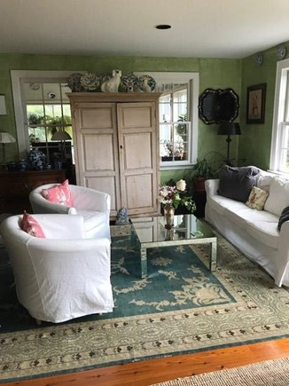 Chilmark - off Meetinghouse Rd Martha's Vineyard vacation rental - Sit in comfort in living room with hidden flat screen TV