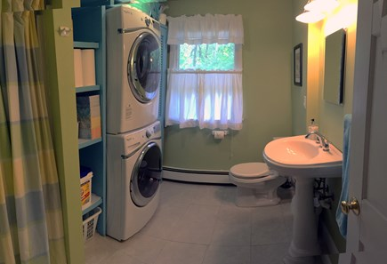 Vineyard Haven Martha's Vineyard vacation rental - Remodeled 1st-fl. bath has new, large-capacity laundry machines.
