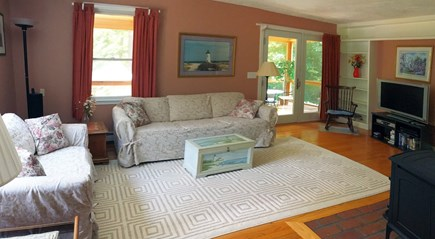 Vineyard Haven Martha's Vineyard vacation rental - Comfortable living room has a 40'' Sony HD-TV with cable, DVD/VCR