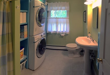 Vineyard Haven Martha's Vineyard vacation rental - Remodeled 1st-fl. bath has new, large-capacity laundry machines.