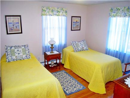 Vineyard Haven Martha's Vineyard vacation rental - First-floor bedroom has twin beds and bathroom across the hall.