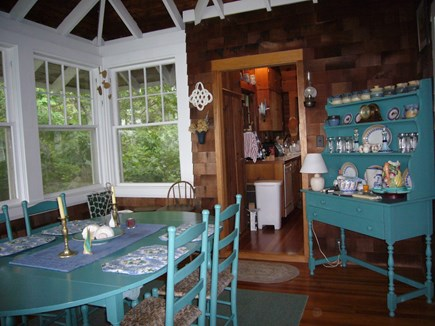 West Tisbury Martha's Vineyard vacation rental - Dining Room with ocean views