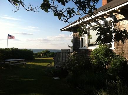West Tisbury Martha's Vineyard vacation rental - Side of house looking towards ocean
