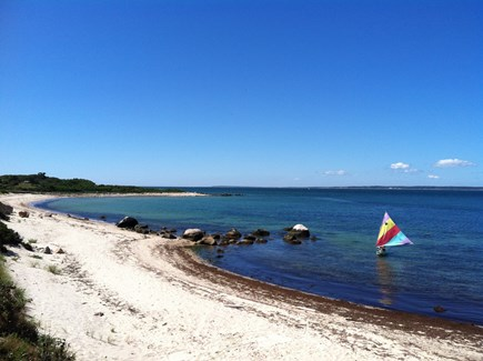 West Tisbury Martha's Vineyard vacation rental - View of private beach and quiet cove