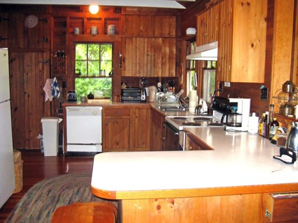 West Tisbury Martha's Vineyard vacation rental - Kitchen with new dishwasher & gas stove (not pictured)