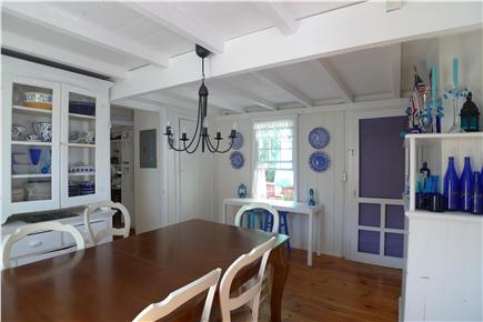 Oak Bluffs Martha's Vineyard vacation rental - Dining Area doorway leads to wrap around covered porch
