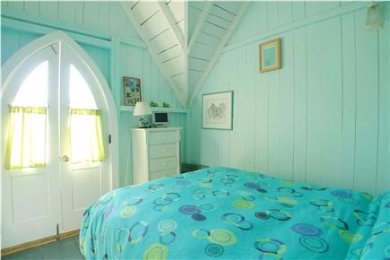 Oak Bluffs Martha's Vineyard vacation rental - 2nd Fl Turquoise Bedroom/Juliet Balcony