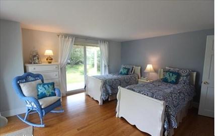 Katama - Edgartown, katama Martha's Vineyard vacation rental - First floor Twins with two sets of sliders