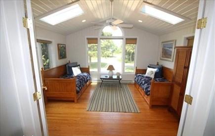 Katama - Edgartown, katama Martha's Vineyard vacation rental - Separate bonus room with twin trundles. Kids LOVE this room