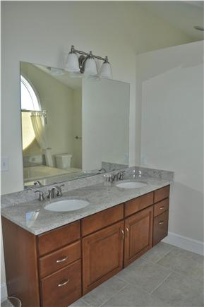 Katama - Edgartown, katama Martha's Vineyard vacation rental - Master Bath with granite and  tile.  Large walk in shower