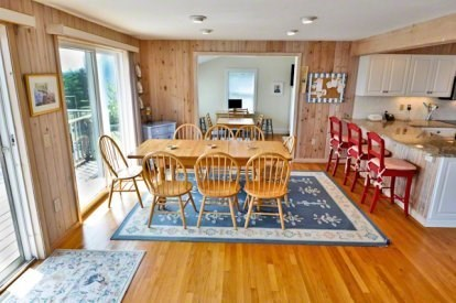 Katama - Edgartown, Katama/Edgartown Martha's Vineyard vacation rental - Dining area Facing the Back Deck.