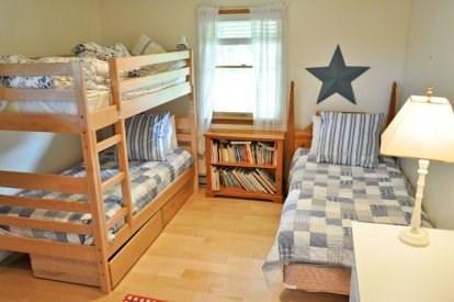 Katama - Edgartown, Katama/Edgartown Martha's Vineyard vacation rental - First Floor Bedroom with Bunk and Twin Bed.