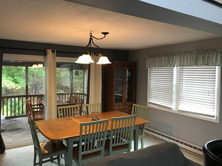Edgartown Martha's Vineyard vacation rental - Dining area with sliders to the screened porch & deck