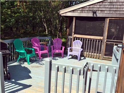 Edgartown Martha's Vineyard vacation rental - Outside Deck with new Weber gas grill