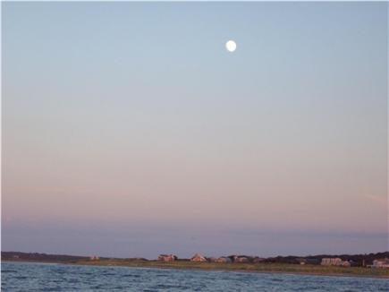 Aquinnah Martha's Vineyard vacation rental - Full moon rise over Menemsha Pond