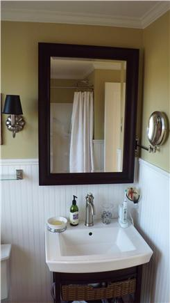 Aquinnah Martha's Vineyard vacation rental - Two full Baths and 10 ft x 10 ft heated multihead outdoor shower