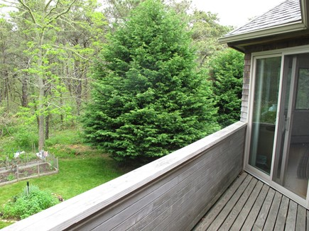 West Tisbury Martha's Vineyard vacation rental - Balcony between bedrooms 1 & 2, view of the herb garden