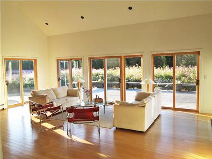 West Tisbury Martha's Vineyard vacation rental - Passive solar design leaves summer sun on deck. Welcome!
