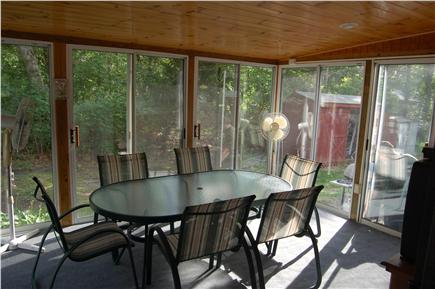 Oak Bluffs Martha's Vineyard vacation rental - 3 Season Screened Porch 12x16 with adjacent outdoor shower