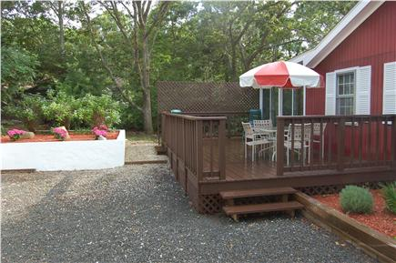 Oak Bluffs Martha's Vineyard vacation rental - Attached deck with BBQ Grill, large driveway