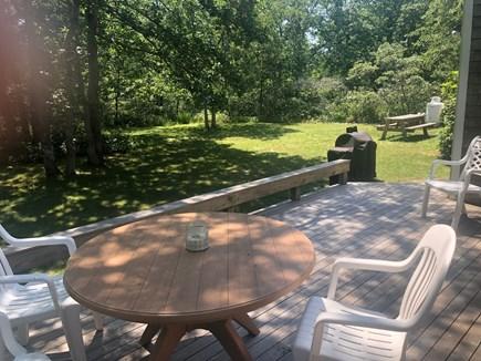 West Tisbury Martha's Vineyard vacation rental - Backyard and deck