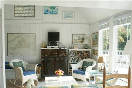 Oak Bluffs, Waterview Farm Martha's Vineyard vacation rental - From dining room looking into living room