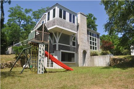 West Tisbury Martha's Vineyard vacation rental - View of House and Play Structure