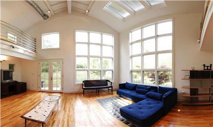 West Tisbury Martha's Vineyard vacation rental - Entrance and sunny living area