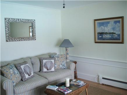 Vineyard Haven Martha's Vineyard vacation rental - Cozy living room with queen sofa bed