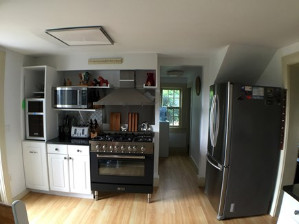 Edgartown Martha's Vineyard vacation rental - Large bright kitchen with new gas stove.