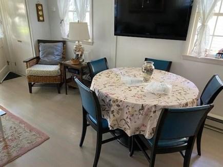 Oak Bluffs Martha's Vineyard vacation rental - Dining area showing TV