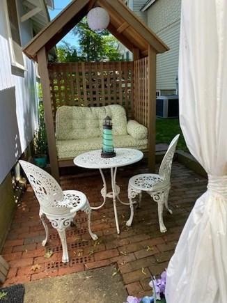 Oak Bluffs Martha's Vineyard vacation rental - Side patio seating area