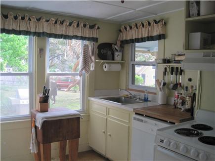 Oak Bluffs Martha's Vineyard vacation rental - Kitchen with tile counters, butcher block & dishwasher