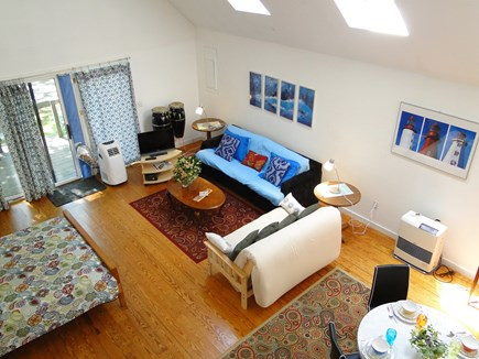 Oak Bluffs Martha's Vineyard vacation rental - View from loft, showing dining area and air conditioning unit