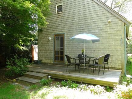 Oak Bluffs Martha's Vineyard vacation rental - Back deck-outdoor shower with hot & cold water around the corner