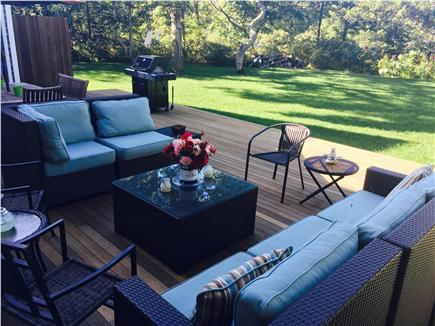 Edgartown Martha's Vineyard vacation rental - Deck with seating area and grill