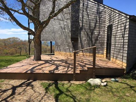 Chilmark Martha's Vineyard vacation rental - New entry deck (2019) before steps and railing installed.
