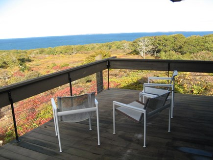 Chilmark Martha's Vineyard vacation rental - Third floor deck view to Elizabeth Islands. (showing portion)