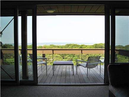 Chilmark Martha's Vineyard vacation rental - Third-floor deck with sunset view over Elizabeth Islands.