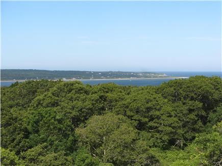Chilmark Martha's Vineyard vacation rental - View toward Aquinnah from third floor deck.