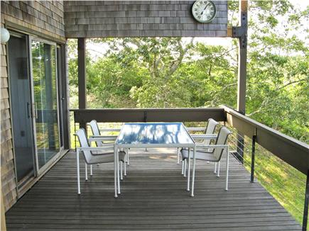 Chilmark Martha's Vineyard vacation rental - Second floor dining with view of Elizabeth Islands - seats 6.