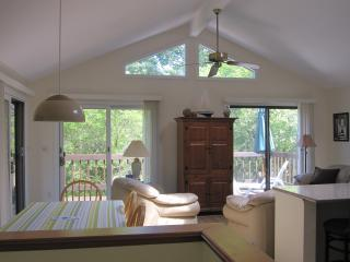 Chappaquiddick Martha's Vineyard vacation rental - Dining room and living room area with open concept