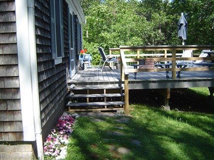 85 Tea Lane, Chilmark Martha's Vineyard vacation rental - Flower planting creative a peaceful space on sunny deck