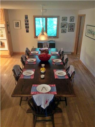 West Tisbury, Lambert's Cove area off State  Martha's Vineyard vacation rental - Dining room table is extra long (and beautifully handmade)