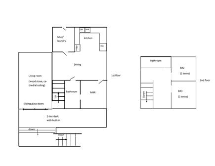 West Tisbury, Lambert's Cove area off State  Martha's Vineyard vacation rental - This floor plan shows how accommodating Studio House is!